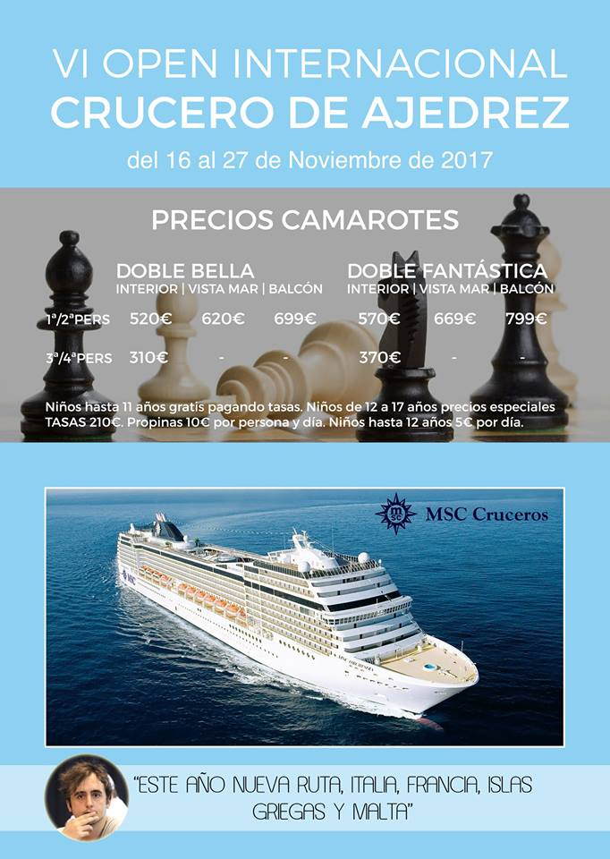 Crucero de Ajedrez (Barcelona) @ Barcelona