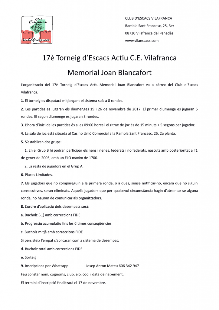ACTIU C.E. VILAFRANCA @ Casino Unio Comarcal