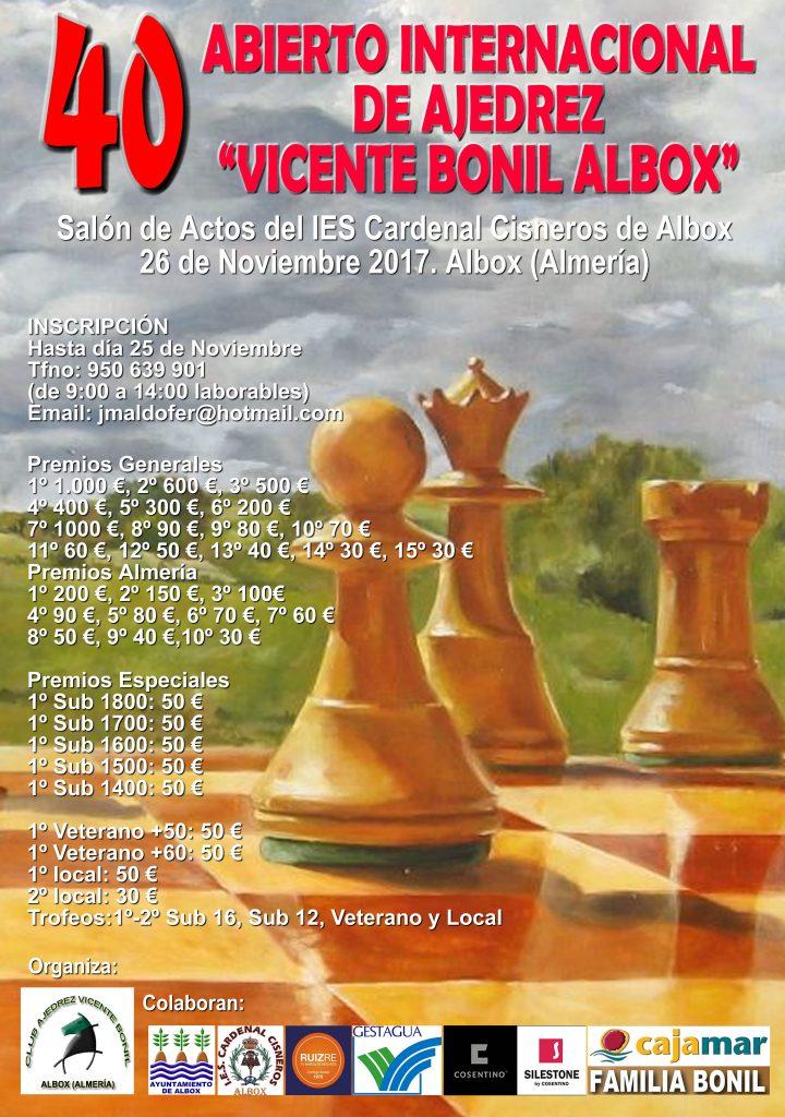 40 INTERNACIONAL VICENTE BONIL ALBOX @ Salon de actos del Ies Cardenal Cisneros