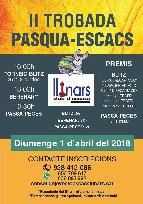 II TROBADA PASQUA ESCACS LLINARS @ Club d´escacs Llinars | Llinars del Vallès | Catalunya | España
