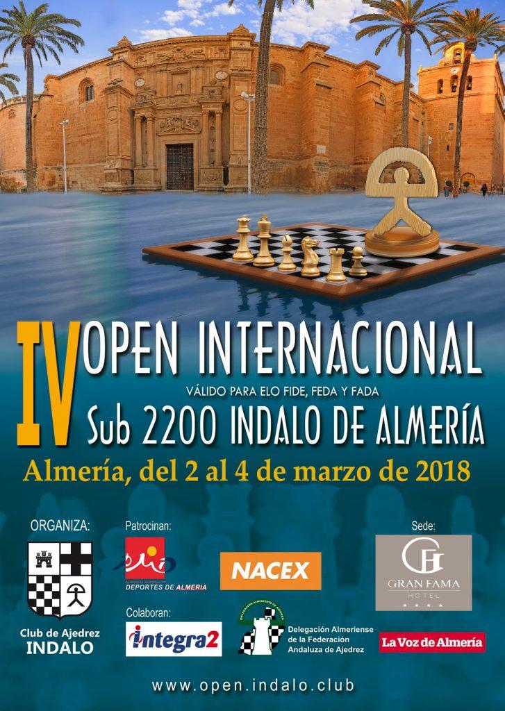 IV OPEN INTERNACIONAL  SUB 2200  INDALO DE ALMERIA @ Gran Fama Almería**** | Almería | Andalucía | España