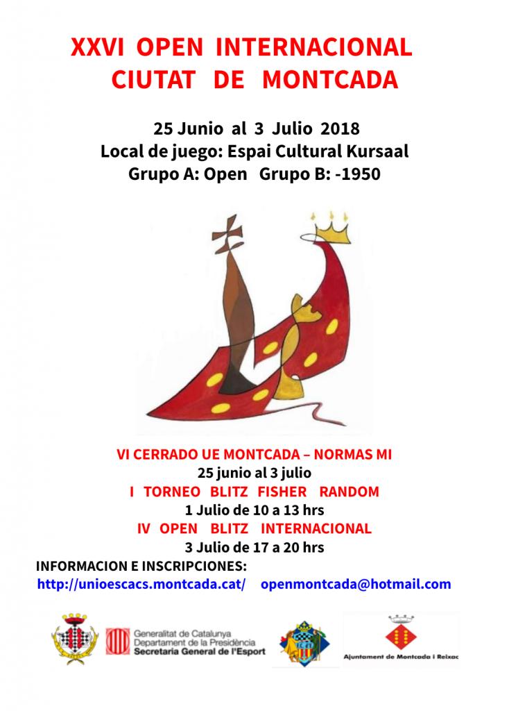 IV OPEN BLITZ INTERNACIONAL MONTCADA @ Espai Cultural Kursaal | Montcada i Reixac | Catalunya | España