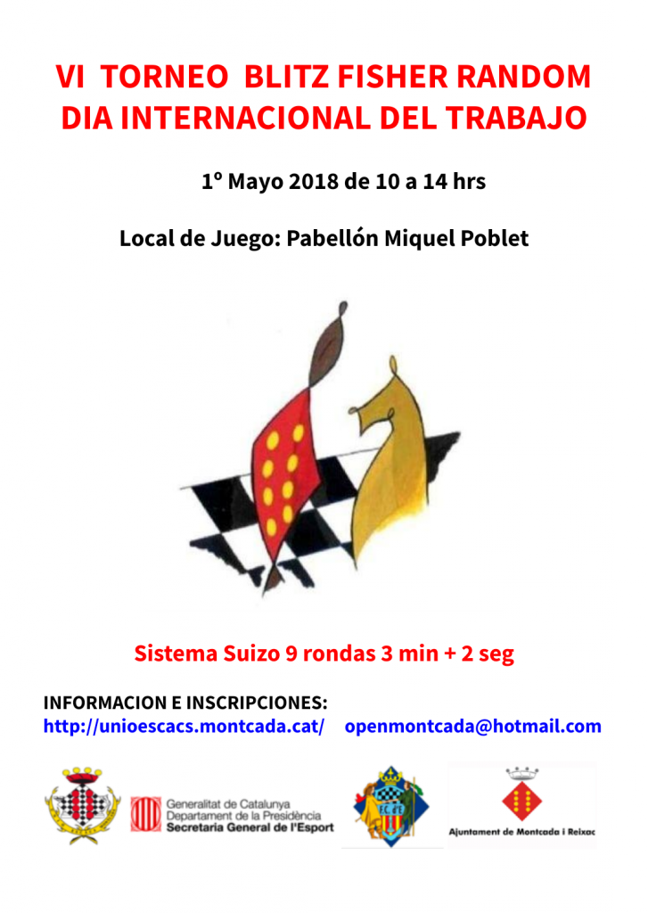 VI TORNEO BLITZ FISCHER RANDOM MONTCADA @ Pabellon Miquel Poblet | Montcada i Reixac | Catalunya | España