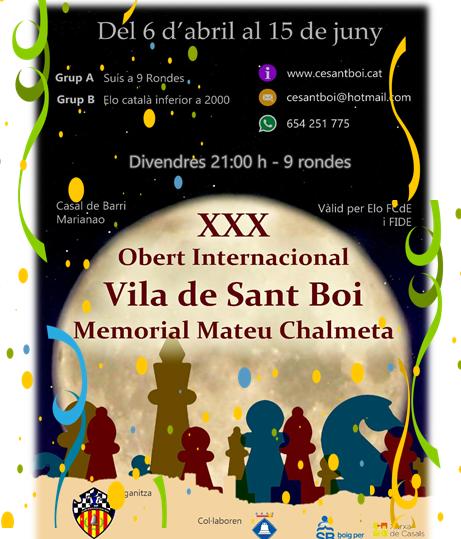 XXX Obert Internacional Vila de Sant Boi @ Casal Marianao  | Sant Boi de Llobregat | España