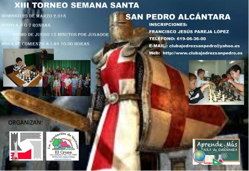 XIII TORNEO SEMANA SANTA SAN PEDRO ALCÁNTARA @ Asociación de Vecino el Cruce | San Pedro Alcántara | Andalucía | España