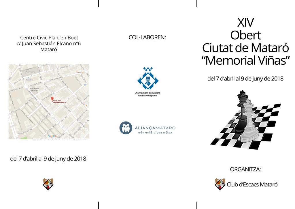 """XIV OBERT CIUTAT DE MATARÓ """"MEMORIAL VIÑAS"""" @ Centre Cívic Pla d'en Boet   Mataró   Catalunya   España"""