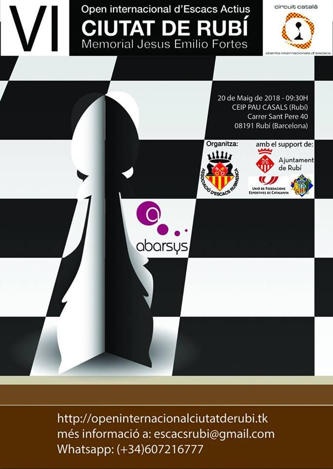 VI Open Escacs Actius Ciutat de Rubí @ Col·legi Pau Casals