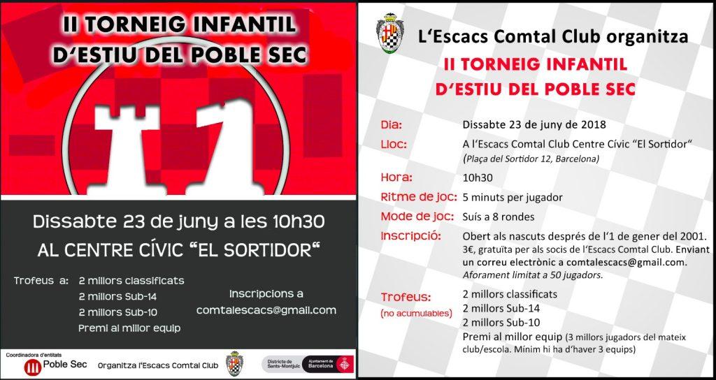 II TORNEIG  INFANTIL DEL POBLE SEC  COMTAL CLUB @ Centre Civic el Sortidor