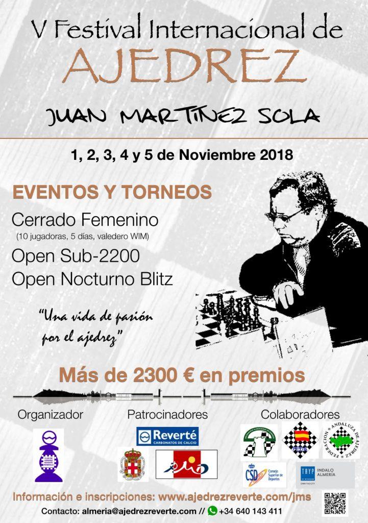 Festival Juan Martínez Sola 2018 @ Hotel Tryp Indalo Almería ****.