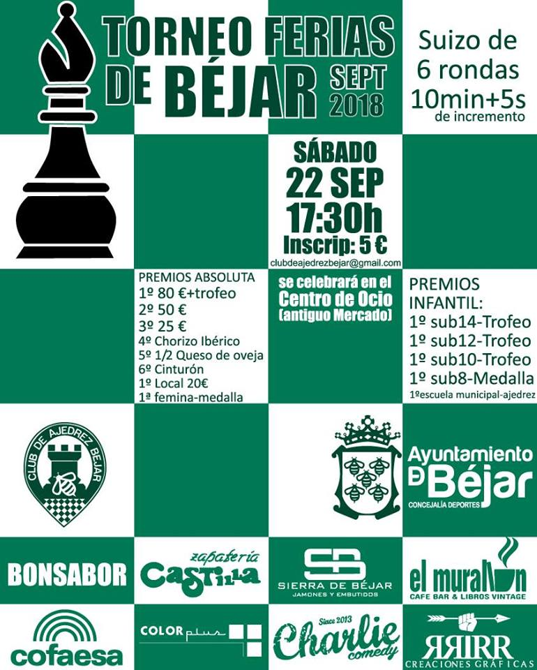 Torneo Ferias de Béjar de ajedrez @ Bejar