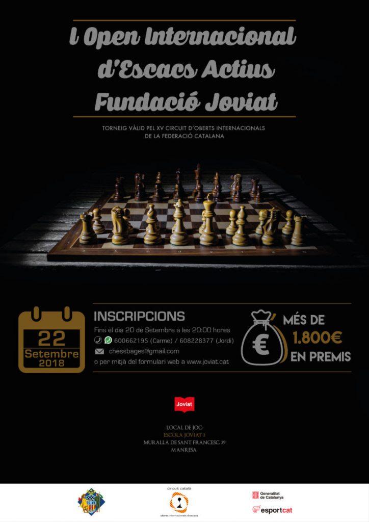 I OPEN INTERNACIONAL D'ESCACS ACTIUS FUNDACIÓ JOVIAT @ ESCOLA JOVIAT