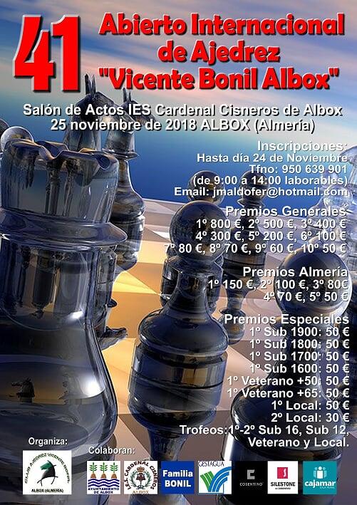"41 OPEN INTERNACIONAL DE AJEDREZ  ""VICENTE BONIL"" @ IES Cardenal Cisneros"