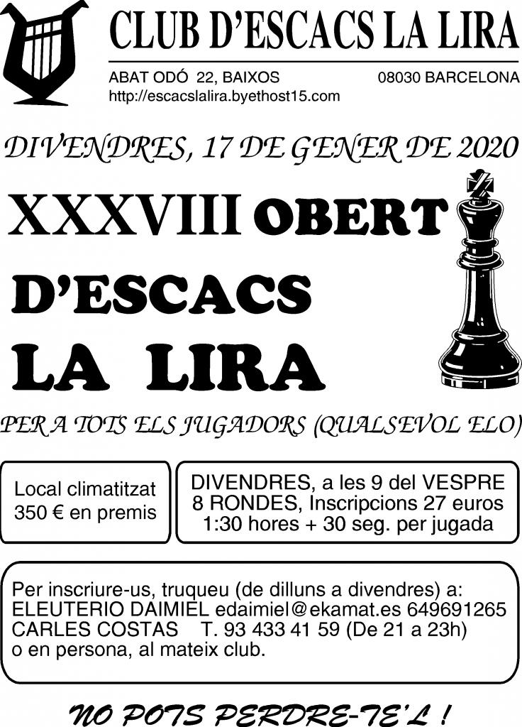 BARCELONA - Cataluña @ Club d'escacs La Lira | Barcelona | Catalunya | España